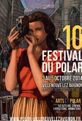 10e Festival du polar - sur le pont ! communication -  illustration © Miles Hyman