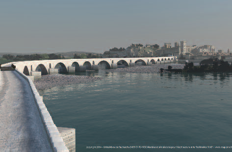 reconstitution 3d du pont d'Avignon