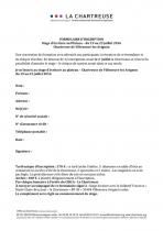 Formulaire d'inscription