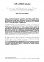 Résidence CEAD - Appel à candidatures 2018